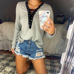 Laced up Sweatshirt